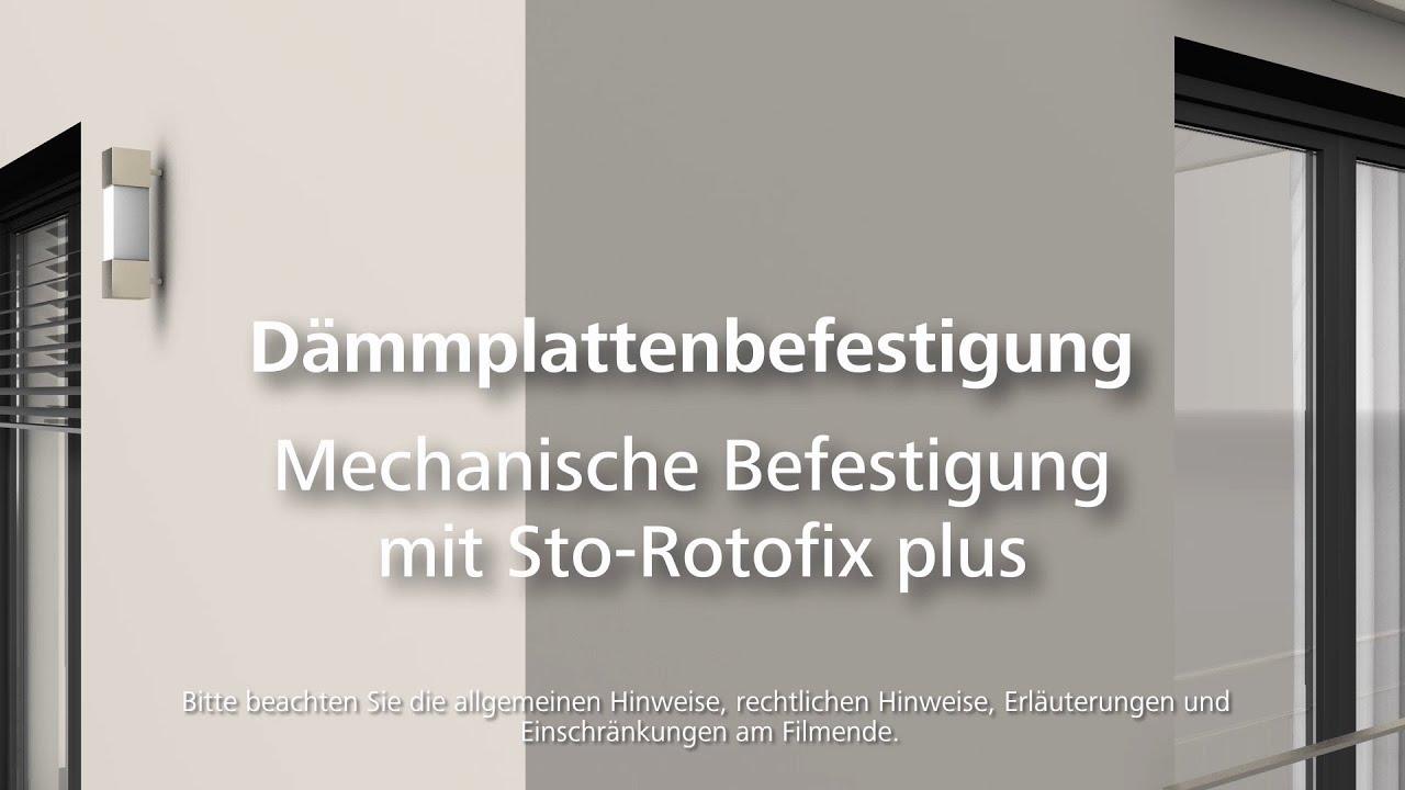 Dämmung dübeln mit Sto-Rotofix plus - Wärmedämmung- / WDVS ...