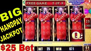BIG HANDPAY JACKPOT | High Limit LIGHITING LINK Happy Lantern | Hihg Limit Lock It Link Live Play