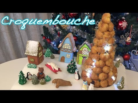 Croquembouche with lights & Christmas Cake - Cheeky Crumbs