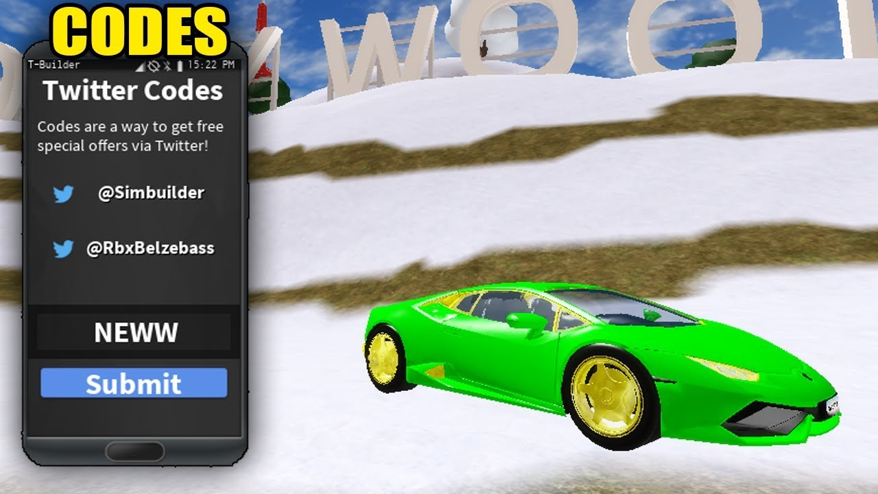 Best Vehicle Simulator Codes 2019 40 000 Free Cash Roblox