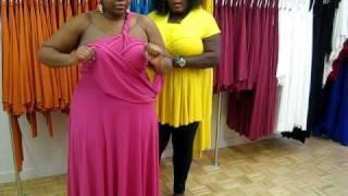 Monif C. Plus Sizes Marilyn Convertible Dress Video #3 Part 2