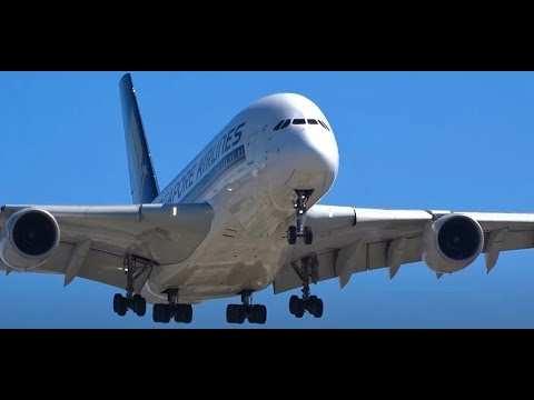 (HD) Plane Spotting at In-N-Out Burger (Many A380s), Los Angeles International Airport KLAX / LAX
