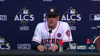 AJ Hinch Postgame Interview | Astros vs Yankees Game 6 ALCS