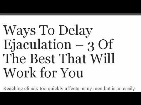 How do you delay orgasm