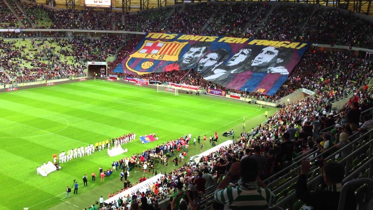 Lechia Gdansk - FC Barcelona 2013-07-30 Sektorowka - YouTube