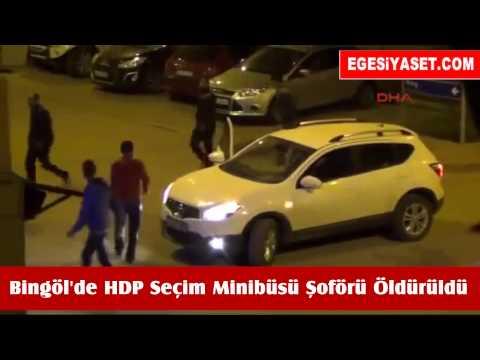 Bingöl'de HDP Seçim Minibüsü Şoförü Öldürüldü