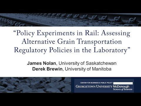"James Nolan presents ""Policy Experiments in Rail: Assessing Grain Regulatory Policies"""