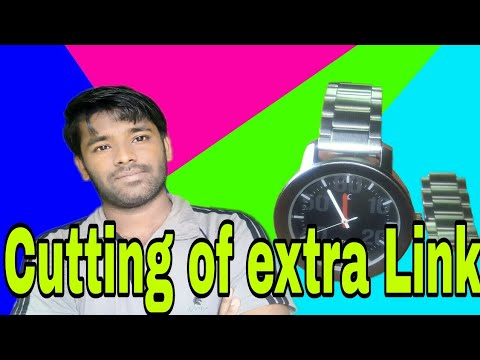 How to adjust a fastrack watch metal band by removing extra links | easy way
