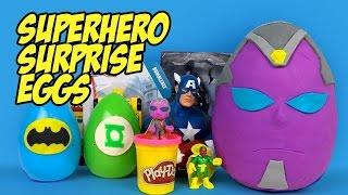 Superhero Play-Doh Surprise Eggs with Avengers Toys, Batman Toys & Justice League Toys by KidCity