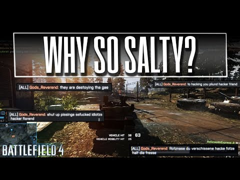 Why so salty - Battlefield 4 Tank Gameplay with Chat Reactions