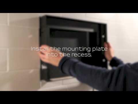 Bathroom waterproof TV television installation