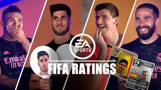 😂 Asensio, Carvajal, Casemiro & Courtois play HILARIOUS FIFA 21 ratings game!
