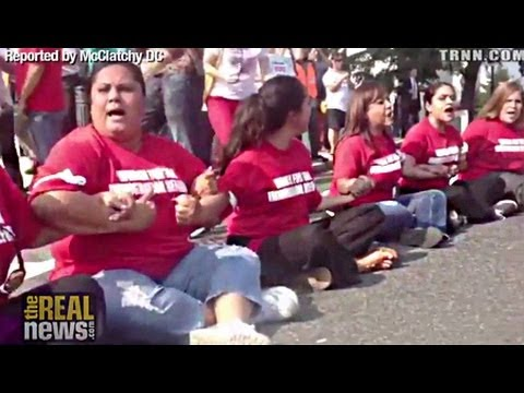 100 Women Arrested in Pro-Immigration Reform Protest