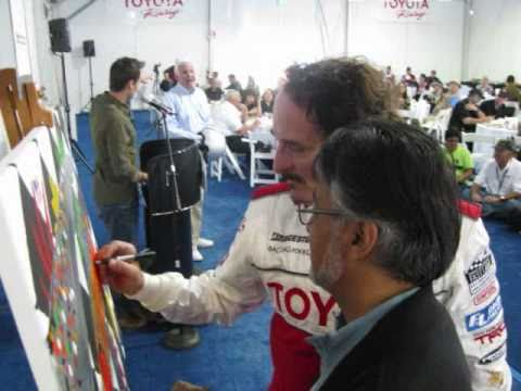 2011 Long Beach Toyota Pro-Celebrity Race Media Day - Car Drawing & Charity RajArt Signing