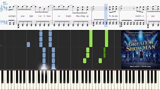Come Alive (from The Greatest Showman Soundtrack) (Synthesia Piano Tutorial w/Lyrics)