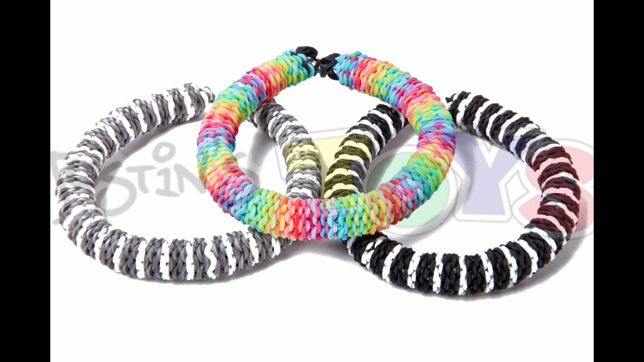 rainbow loom inverted hexafish advanced bracelet tutorial