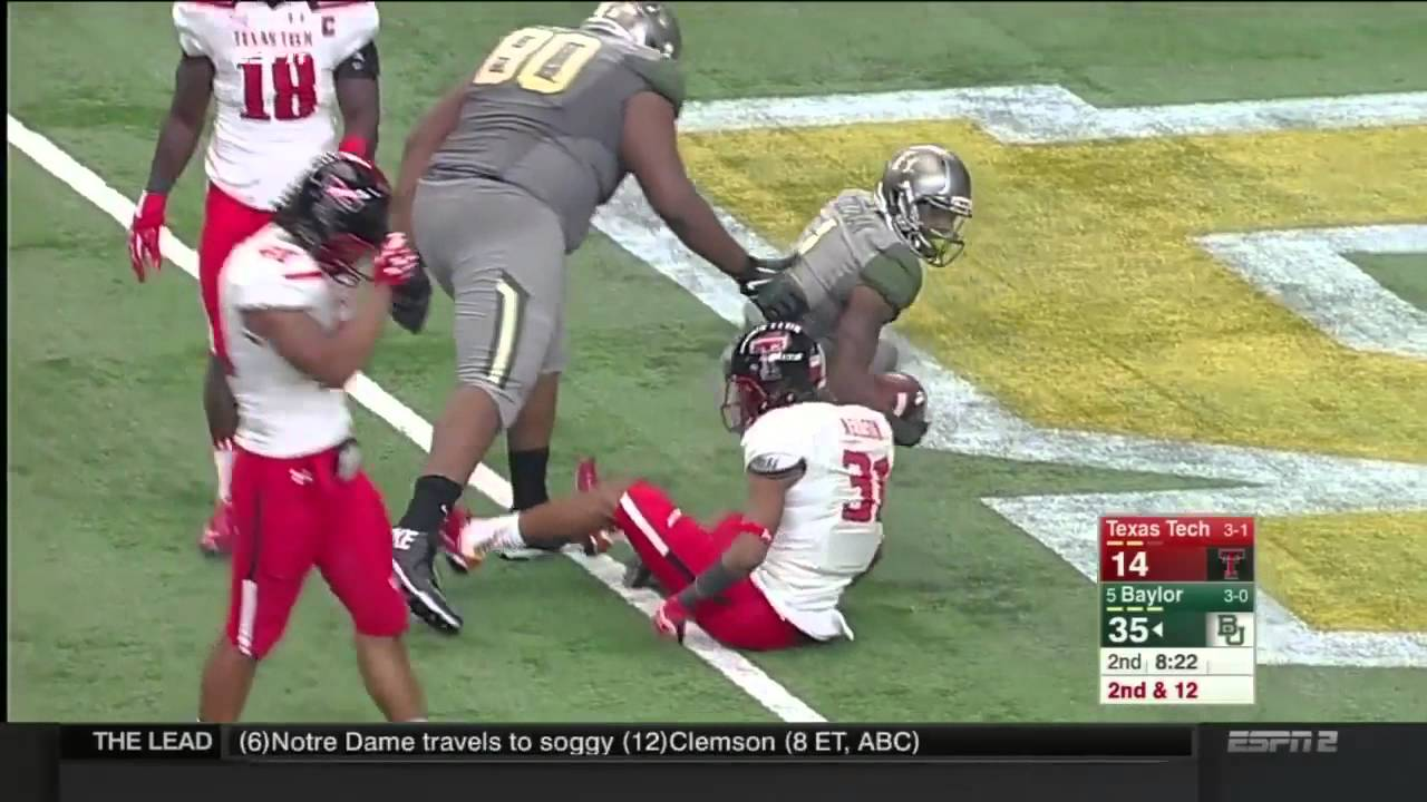Texas Tech Vs Baylor 2015 Big 12 Football Highlights Youtube