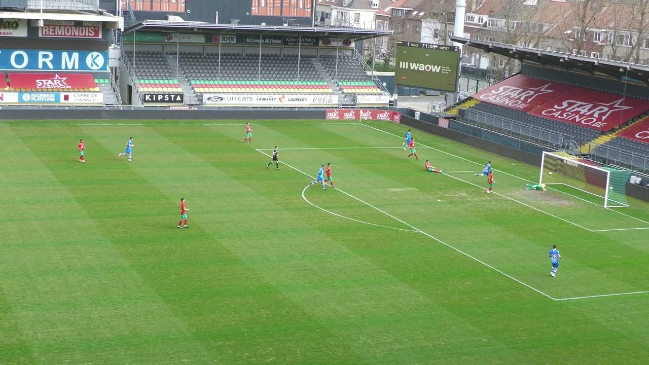 ⚽️  (1-3) Tarik Tissoudali   KV Oostende 🆚  KAA Gent (friendly)