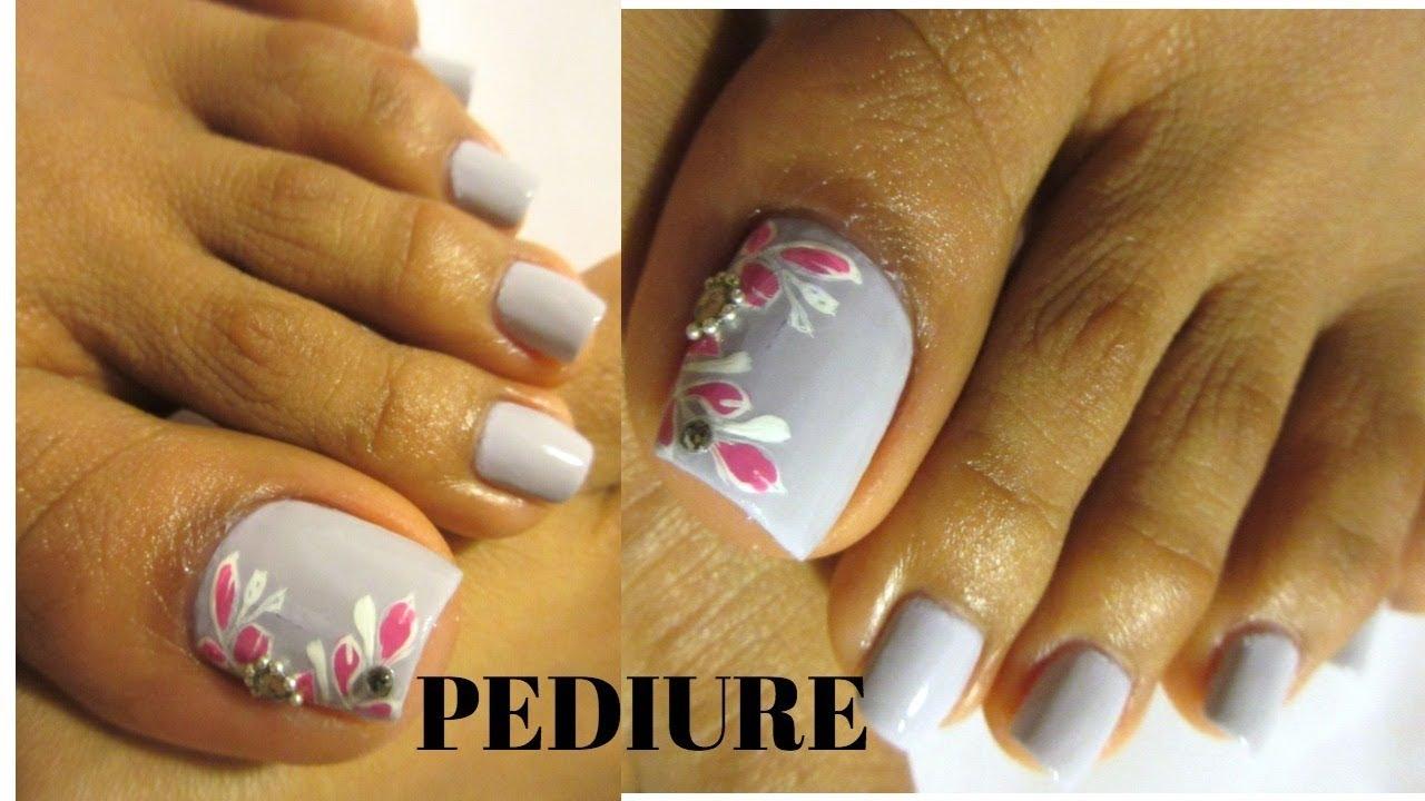 Hazte este diseño en tus uñas de los pies /pedicure ...