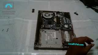 How to Disassemble Lenovo Ideapad P Series Laptop (P400) Replace Hard Drive, Memory