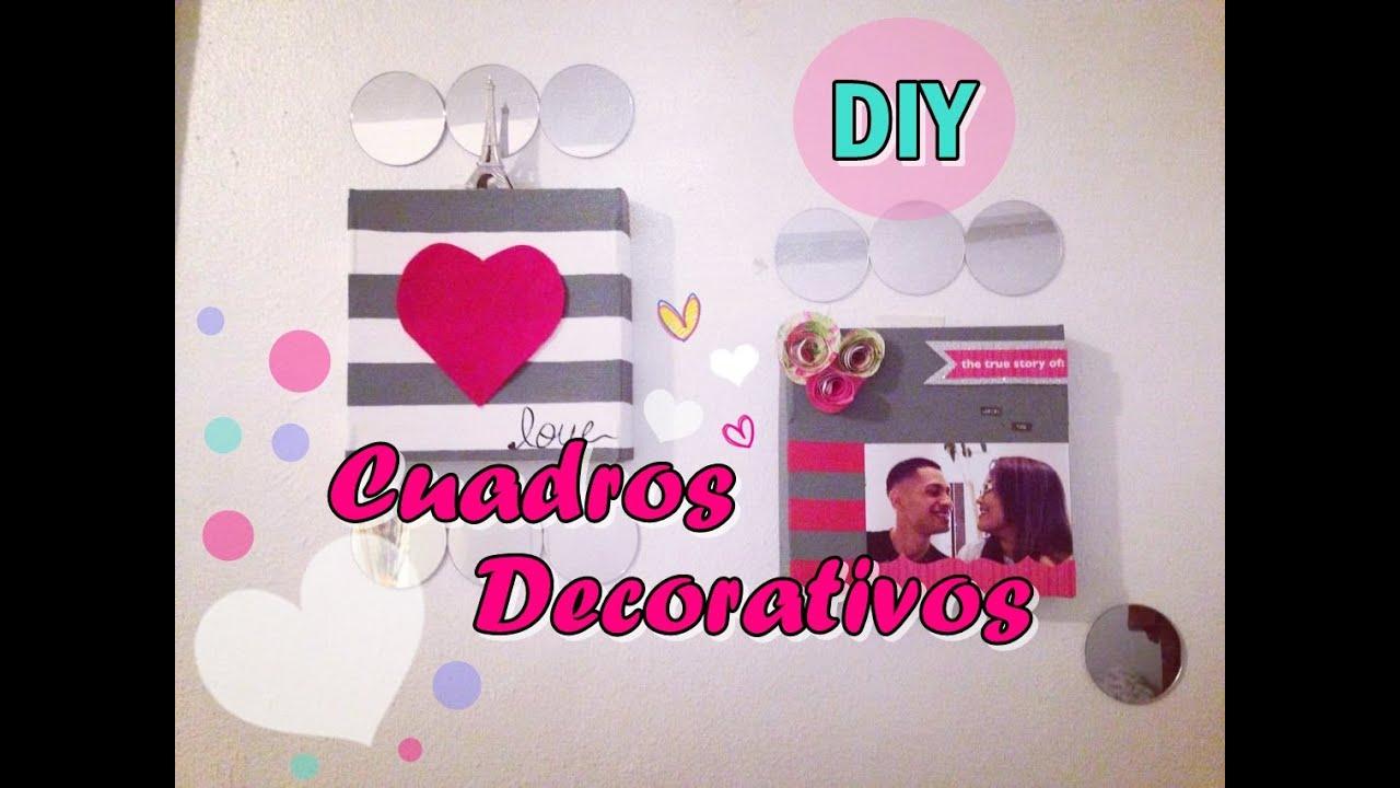 Como hacer cuadros decorativos diy youtube for Como hacer espejos decorativos