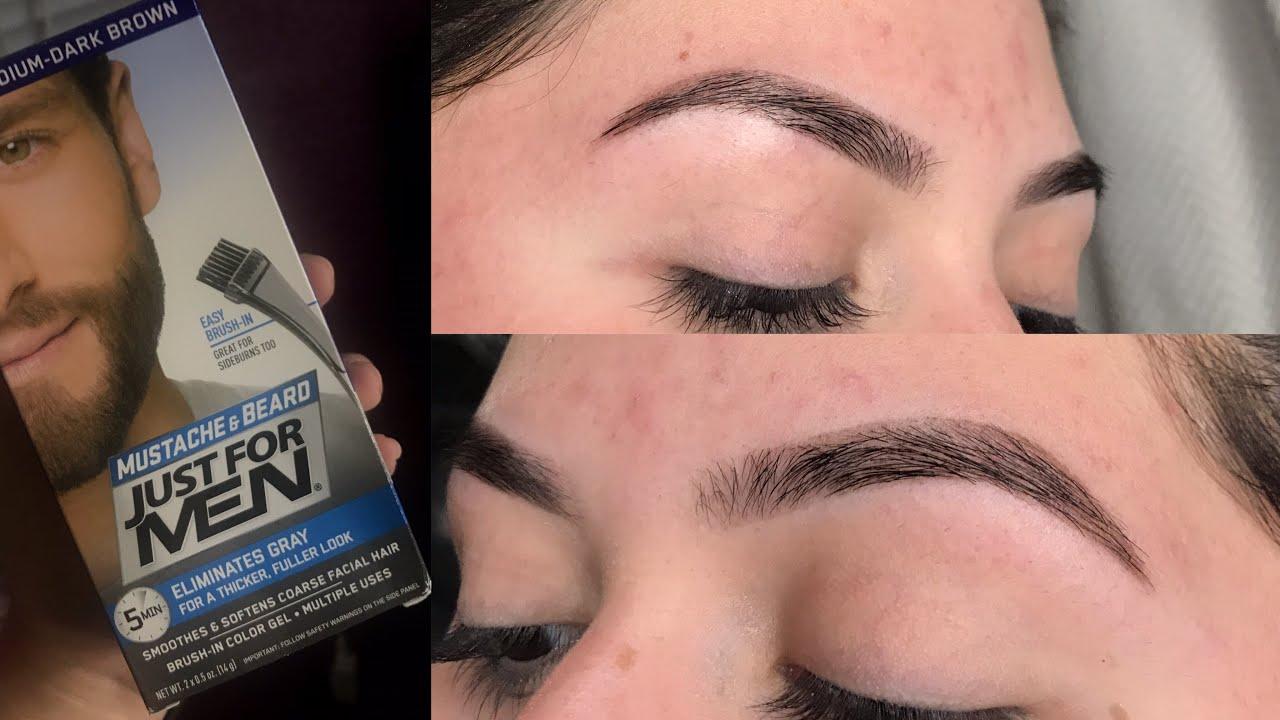 Eyebrow Tinting With Just For Men Dye Kayla Martinez
