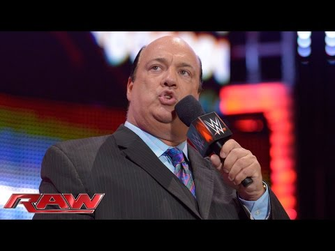 Paul Heyman comments on John Cena's chances against Brock Lesnar at Night of Champions: Raw, Sept. 1
