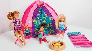 Barbie CAMPING Brincando de Acampamento da Stacie com BIA LOBO