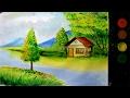 Download cara melukis pemandangan alam dengan cat air versi lambat