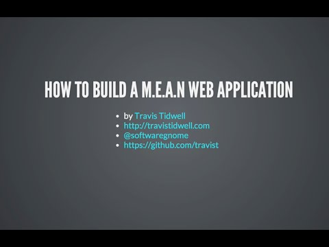 How to build a M.E.A.N web application