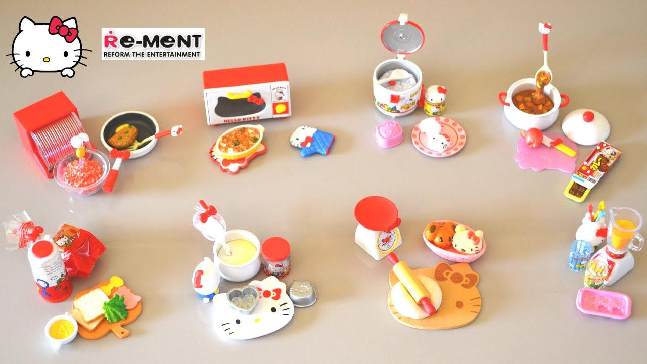 Re Ment Hello Kitty Quot I Love Cooking Quot Set Re Ment