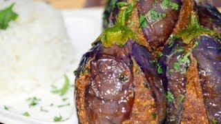 Gutti Vankai/(Masala Stuffed Eggplants) - Gutti Vankaaya Kura