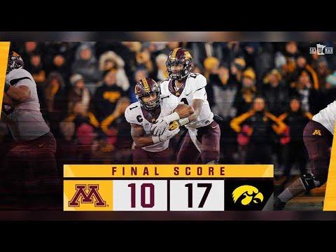 Highlights: Minnesota at Iowa (Oct. 28, 2017)