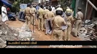 conflict between cpm and namajapa protesters at balaramapuram