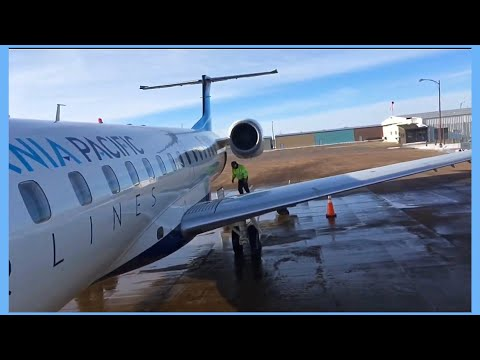 Trip Report I California Pacific Airlines I ERJ145 I N286SK I Watertown - Pierre