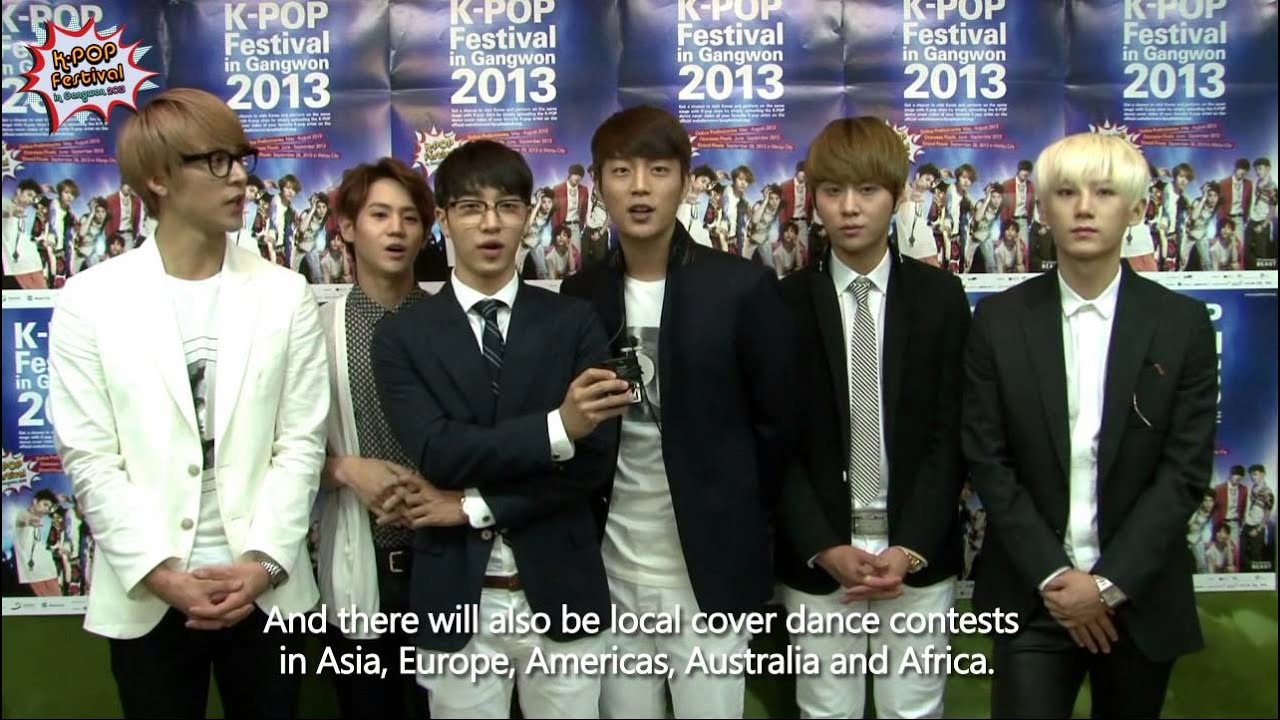 Eng Sub Beasts Greeting For K Pop Festival In Gangwon 2013