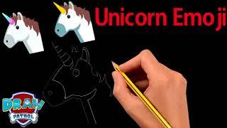 How To Draw Unicorn Emoji - Easy | Art For Kids Hub