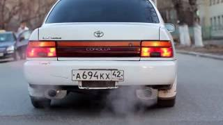 AE100 Corolla APEXi exhaust mufflers  sexy sound! part2