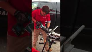 "Diablo Tools Demo - Cutting through 2"" Galvanized pipe with a Lenox Blade"