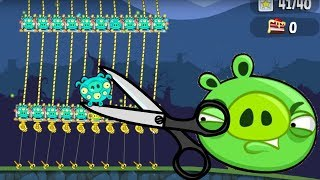 Bad Piggies - INTERESTING CUT THE GOLDEN ROPE OF ALIEN PIGS!