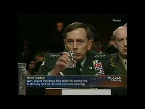 General DAVID PETRAEUS Faints REPTILIAN Shapeshifting in SLOW MOTION