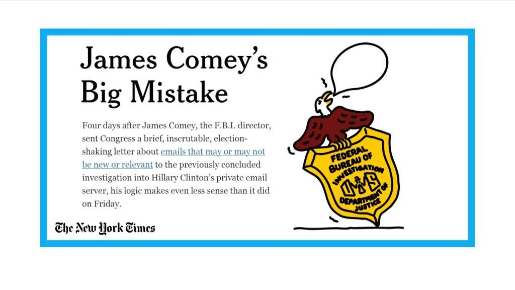 James Comey just made a big mistake on Hillary Clinton's emails