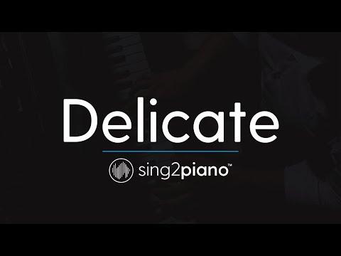 Delicate (Piano Karaoke Instrumental) Taylor Swift