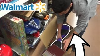 Opened Hover Board Inside Walmart And Riding It