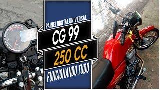 CG 99 - 250 CILINDRADAS e  painel digital universal - Linda