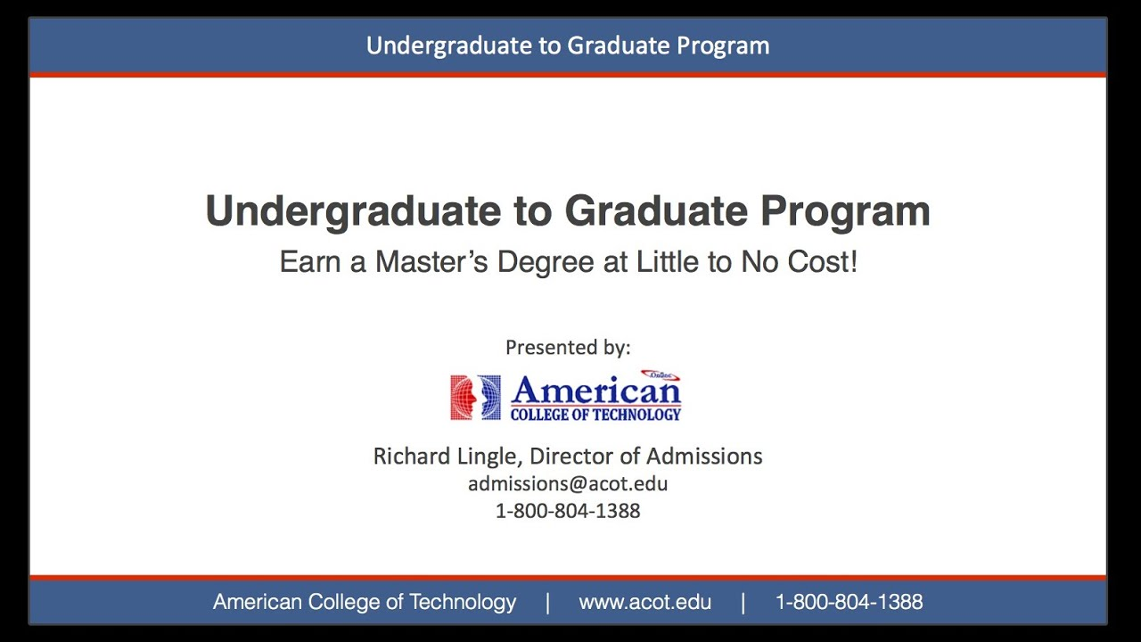 acot undergraduate to graduate mba master of business acot undergraduate to graduate mba master of business administration degree programs online