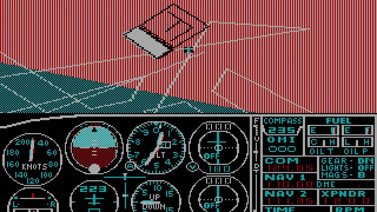 PC Booter Game: Microsoft Flight Simulator (v2 0) (1984 Microsoft)