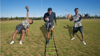 THE IMPOSSIBLE FOOTBALL OBSTACLE COURSE!