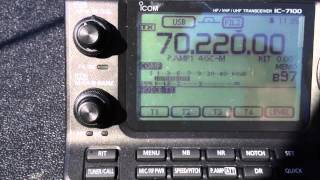 M0TAZ testing 6 element 4m beam on 70MHz with Icom IC-7100