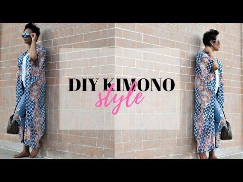 DIY | HOW TO MAKE A NO SEW KIMONO IN 5 MINUTES